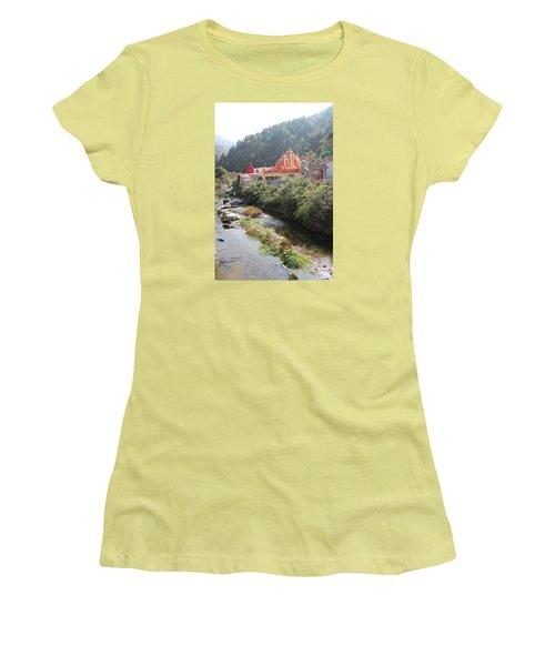 Neem Karoli Baba Ashram, Kainchi Women's T-Shirt (Junior Cut) by Jennifer Mazzucco