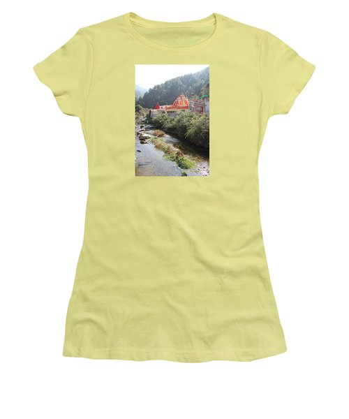 Neem Karoli Baba Ashram, Kainchi Women's T-Shirt (Athletic Fit)