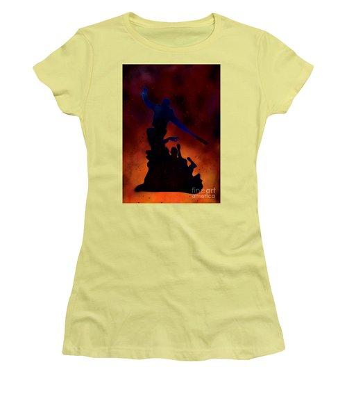 Negan Inferno Women's T-Shirt (Junior Cut) by Justin Moore