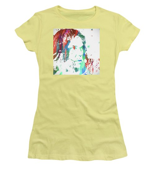 Neil Young Paint Splatter Women's T-Shirt (Athletic Fit)