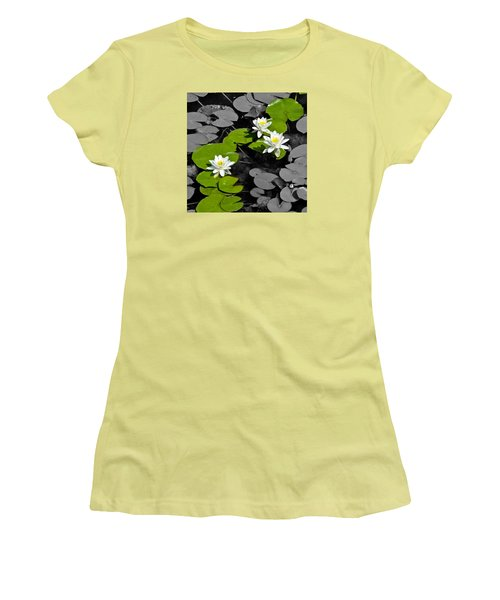 Women's T-Shirt (Junior Cut) featuring the photograph Nenuphar by Gina Dsgn