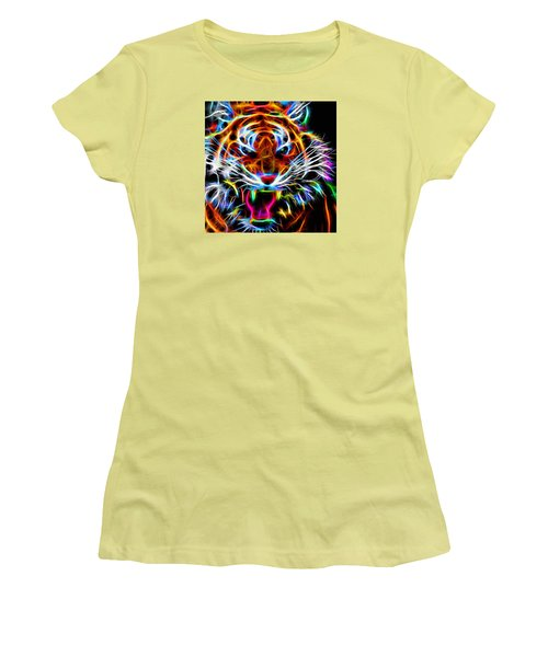 Neon Tiger Women's T-Shirt (Athletic Fit)