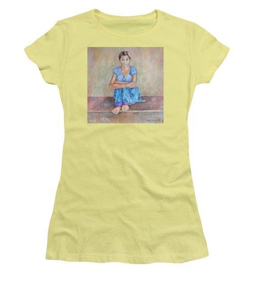 Nepal Girl 4 Women's T-Shirt (Junior Cut) by Marty Garland