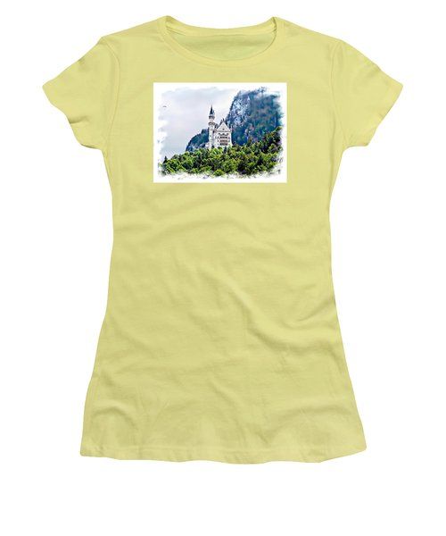 Neuschwanstein Castle With A Glider Women's T-Shirt (Athletic Fit)