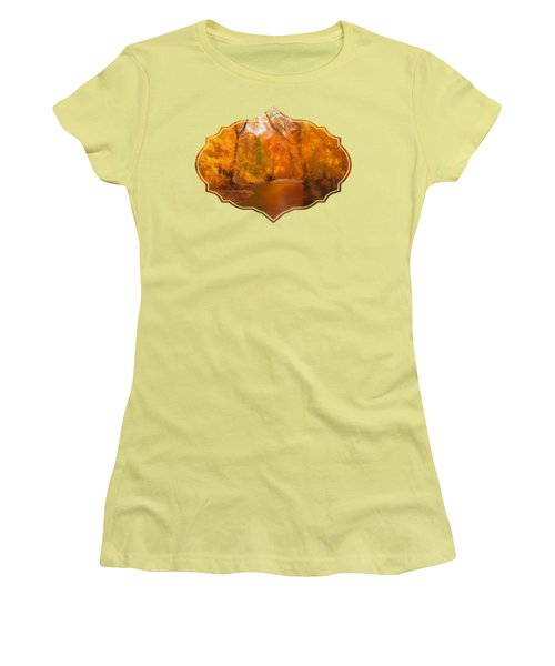 New England Autumn In The Woods Women's T-Shirt (Athletic Fit)