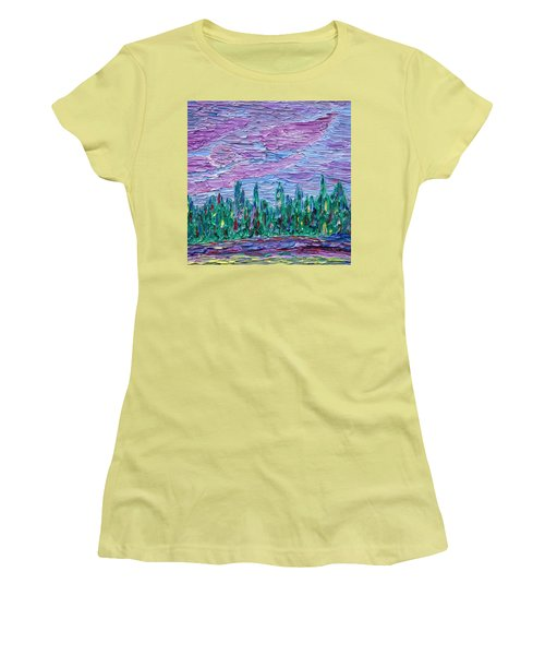 New Jersey Colors Women's T-Shirt (Junior Cut) by Vadim Levin