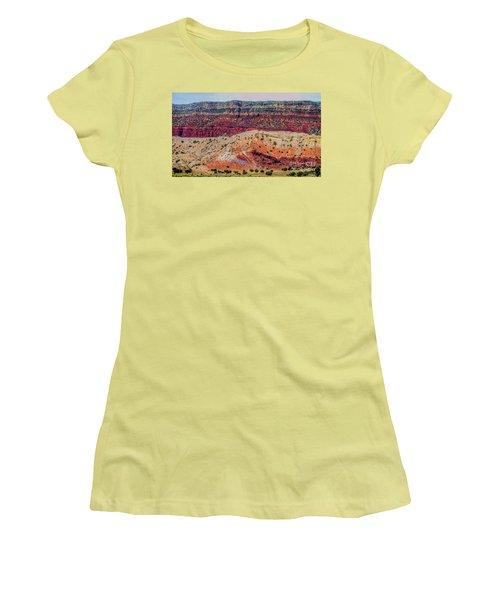 New Mexico Hillside Women's T-Shirt (Junior Cut) by Gina Savage