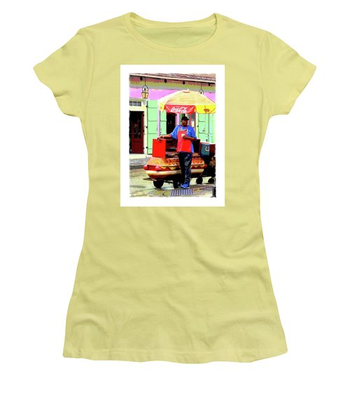 New Orleans Hotdog Vendor Women's T-Shirt (Athletic Fit)