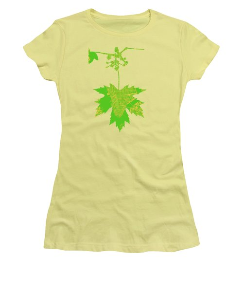 New Yor City Vintage Map Women's T-Shirt (Athletic Fit)