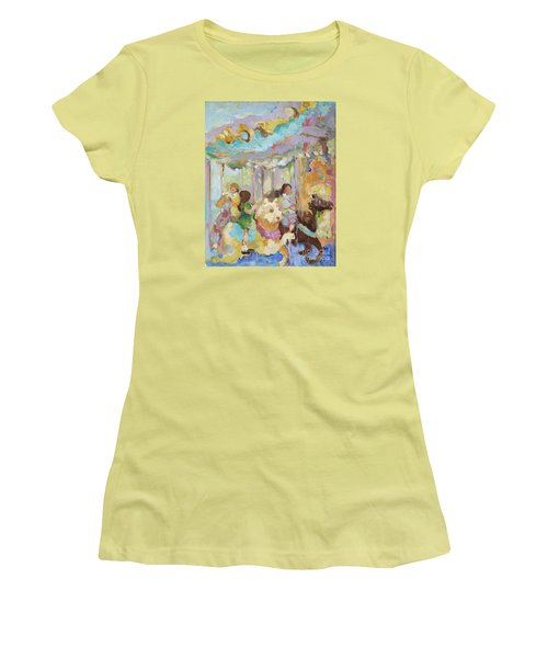 New York Carousel Women's T-Shirt (Athletic Fit)