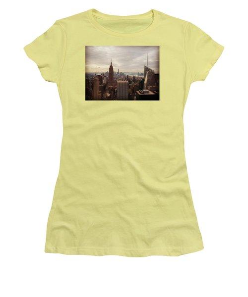 New York City Skyline Women's T-Shirt (Junior Cut) by Lush Life Travel
