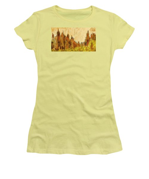 New York City In The Fall Women's T-Shirt (Junior Cut) by Alex Galkin