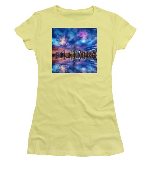 New York Fireworks Women's T-Shirt (Athletic Fit)