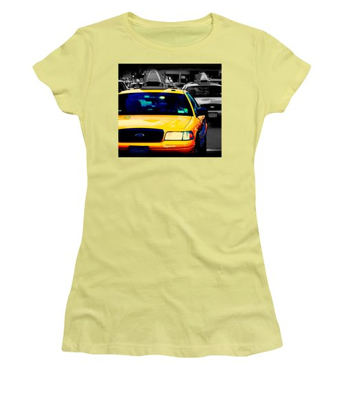 New York Taxi Women's T-Shirt (Junior Cut) by Christopher Woods