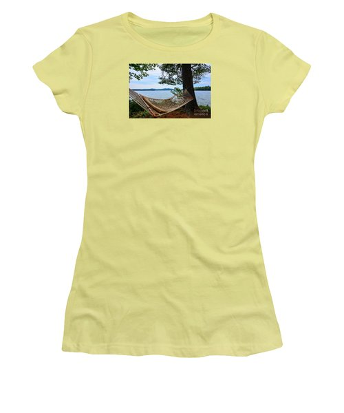 Women's T-Shirt (Junior Cut) featuring the photograph Nice Spot For A Nap by Mim White
