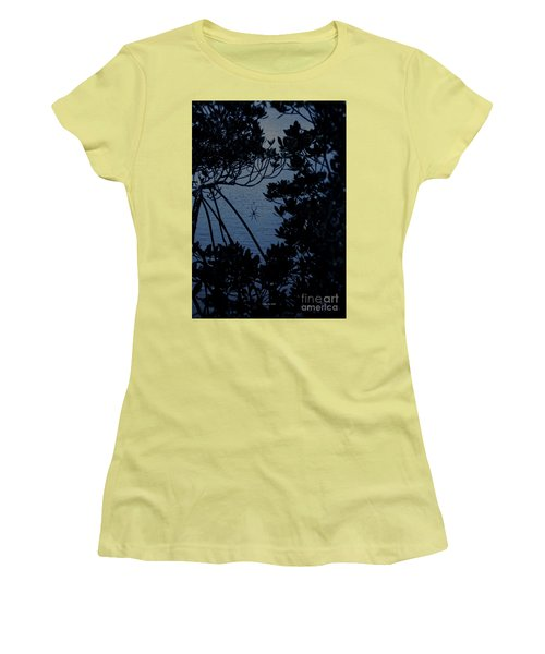 Women's T-Shirt (Athletic Fit) featuring the photograph Night Banana Spider by Megan Dirsa-DuBois