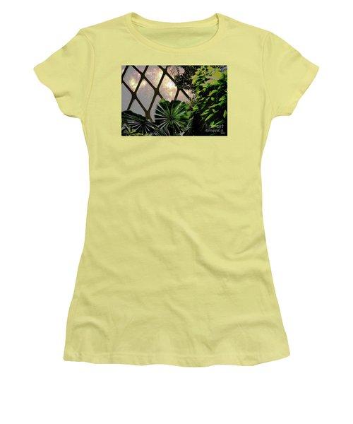 Night In The Arboretum Women's T-Shirt (Junior Cut) by Deborah Nakano
