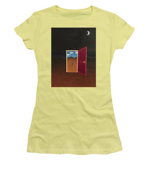 Night Into Day Women's T-Shirt (Junior Cut) by Thomas Blood