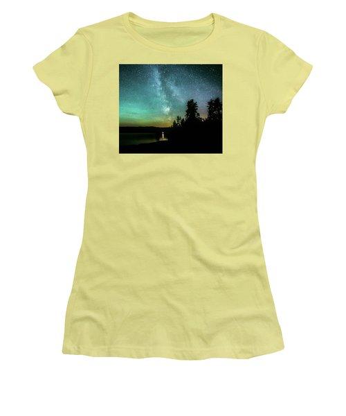 Night Sky Women's T-Shirt (Junior Cut) by Rose-Marie Karlsen