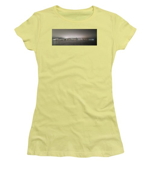 Night View Ocean City Downtown Skyline Women's T-Shirt (Athletic Fit)