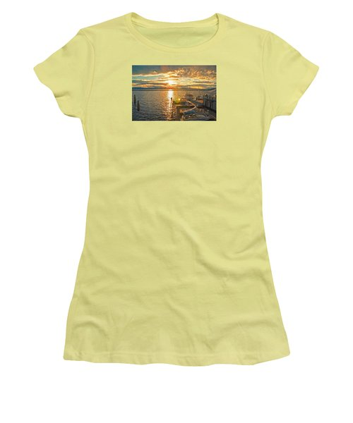 Nighttime Dockage Women's T-Shirt (Athletic Fit)