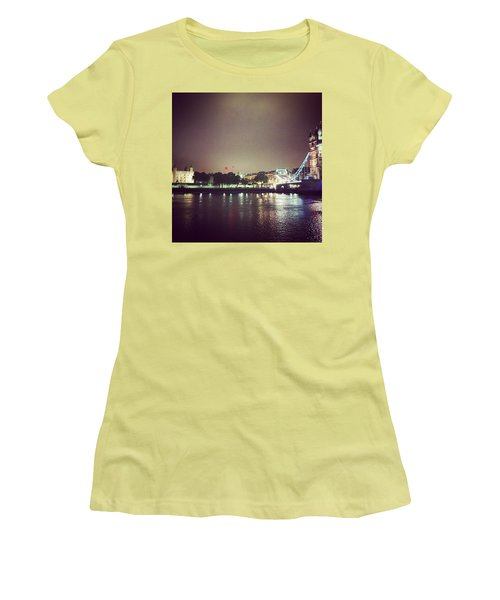 Nighttime In London Women's T-Shirt (Junior Cut) by Nancy Ann Healy