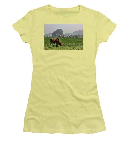 Ninh Binh Reserve  Women's T-Shirt (Junior Cut) by Chuck Kuhn