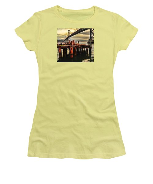 Women's T-Shirt (Athletic Fit) featuring the photograph No Name Dock by Steve Siri
