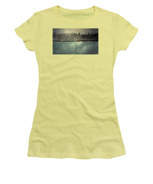 No One Ever Leaves  Women's T-Shirt (Junior Cut) by Mark Ross