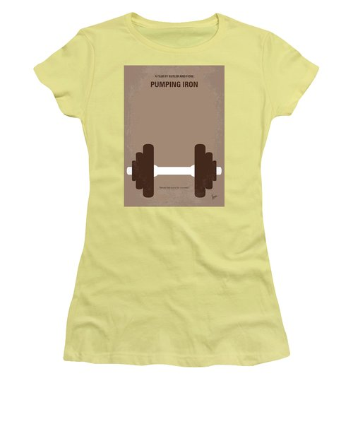 No707 My Pumping Iron Minimal Movie Poster Women's T-Shirt (Athletic Fit)