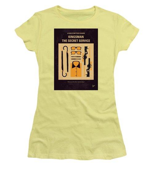 Women's T-Shirt (Junior Cut) featuring the digital art No758 My Kingsman Minimal Movie Poster by Chungkong Art