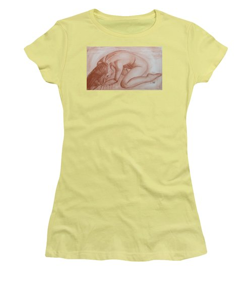 Women's T-Shirt (Junior Cut) featuring the painting Nocturne by Jarko Aka Lui Grande