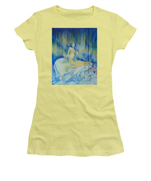 Women's T-Shirt (Junior Cut) featuring the drawing Northern Dream by Anna  Duyunova
