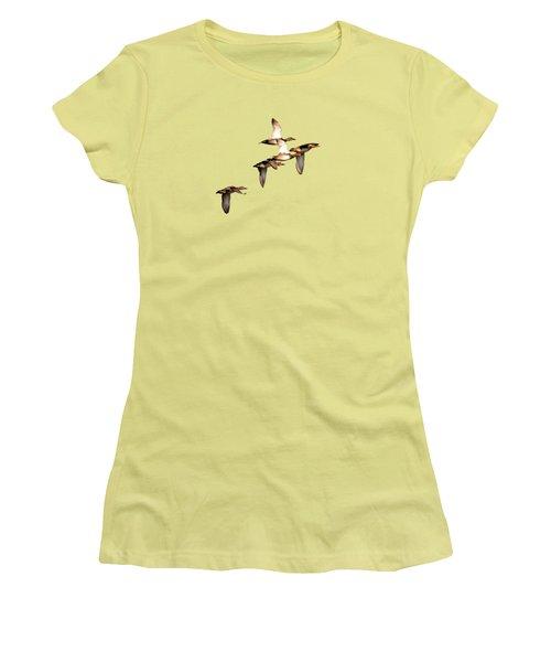 Northern Shoveler Women's T-Shirt (Junior Cut) by Manjot Singh Sachdeva