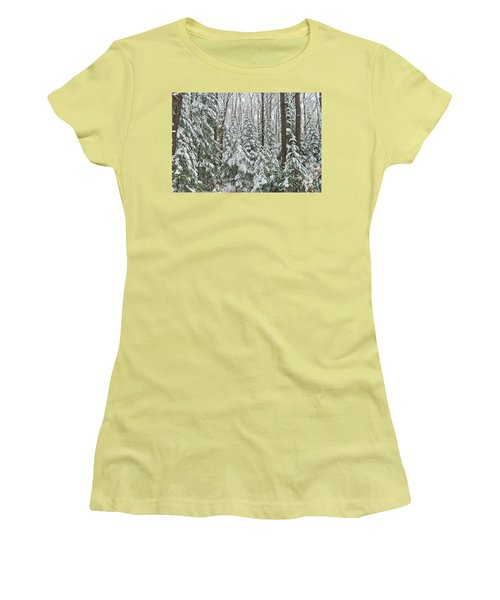 Northern Winter Women's T-Shirt (Junior Cut) by Michael Peychich