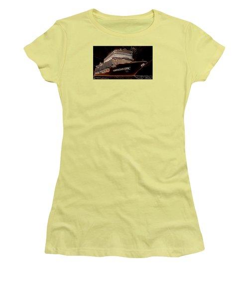 Women's T-Shirt (Junior Cut) featuring the photograph Norwegian Epic by Mario Carini