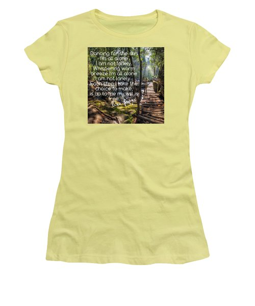 Women's T-Shirt (Junior Cut) featuring the photograph Not Alone by Lisa Piper