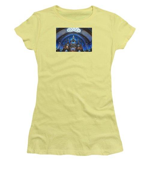Notre Dame Basilica Women's T-Shirt (Junior Cut) by John Schneider