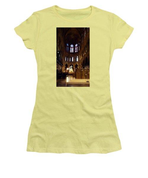 Notre Dame De Paris Women's T-Shirt (Junior Cut) by Takaaki Yoshikawa