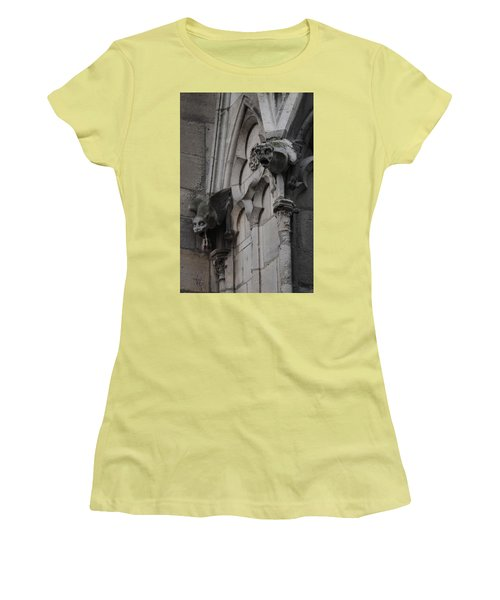 Notre Dame Grotesques Women's T-Shirt (Junior Cut) by Christopher Kirby