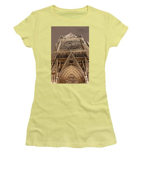 Women's T-Shirt (Junior Cut) featuring the photograph Notre Dame North by Christopher Kirby