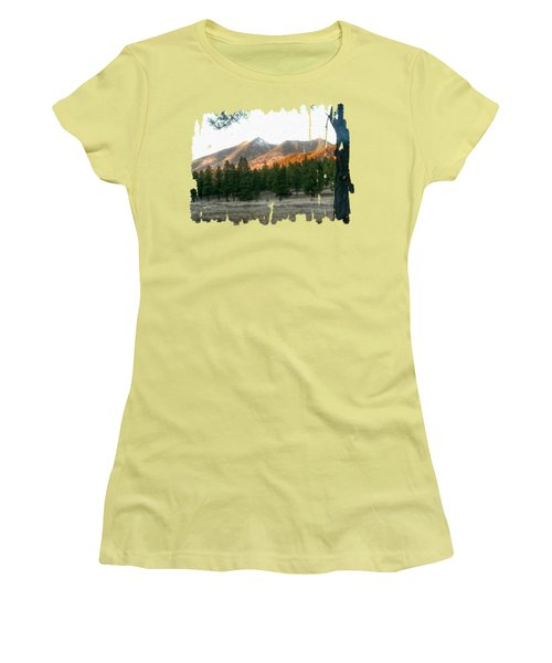 November Sunset On Sf Peaks Women's T-Shirt (Athletic Fit)