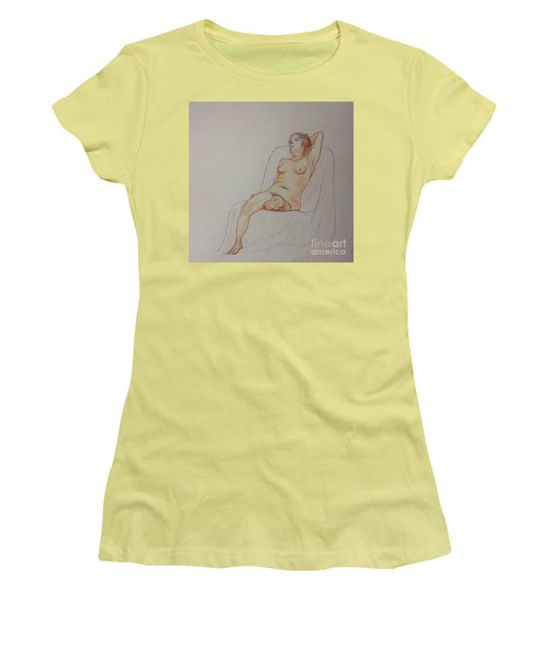Nude Life Drawing Women's T-Shirt (Athletic Fit)