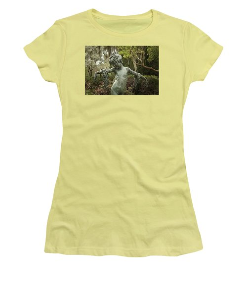 Women's T-Shirt (Junior Cut) featuring the photograph Wood Nymph by Jessica Brawley