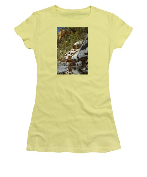 Oak Creek Beckons Women's T-Shirt (Junior Cut) by Tom Kelly
