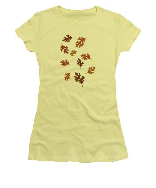 Oak Leaves Art Women's T-Shirt (Junior Cut) by Christina Rollo