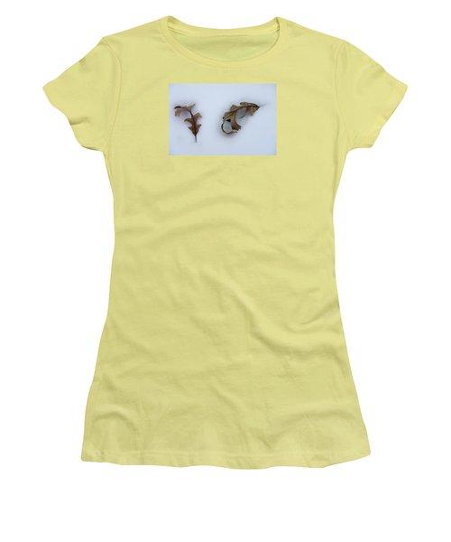 Oak Leaves Women's T-Shirt (Athletic Fit)
