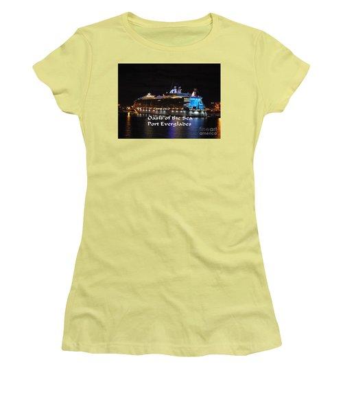 Oasis Of The Seas Women's T-Shirt (Junior Cut) by Gary Wonning
