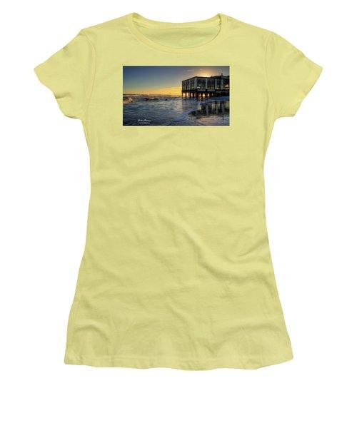 Oc Music Pier Sunset Women's T-Shirt (Junior Cut) by John Loreaux
