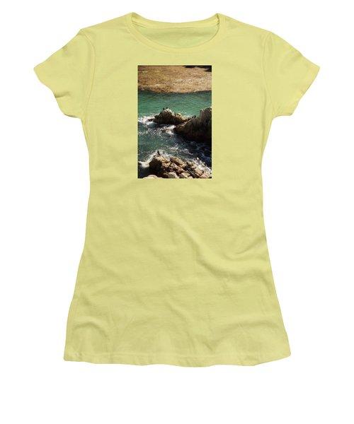 Ocean Rock Near Carmel Women's T-Shirt (Athletic Fit)